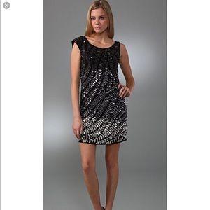 ALICE+OLIVIA Charlie Beaded Silk Sequin Dress